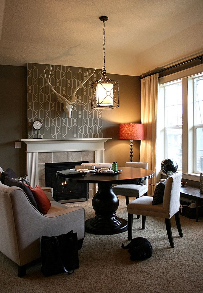 Living Room Becomes a Work Space Fabric Softener to Remove Wallpaper for Transitional Living Room Living Photos Electricians