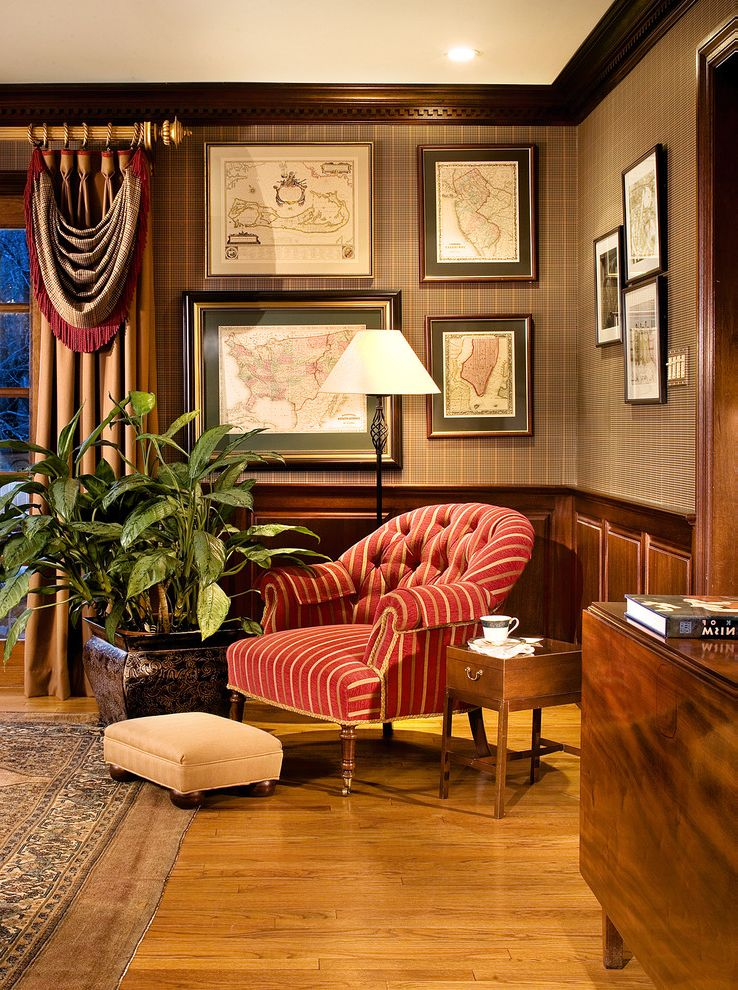 Mahogany Library  Home Office Peter Rymwid Photography  Cover Shot How to Decorate Office at Work for Traditional Home Office Home Office Photos Pocket Doors Home Office Ideas