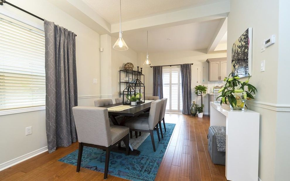 Maintain Privacy with Layered Drapes and Blinds Property Brothers Buying and Selling for Contemporary Dining Room Dining Photos Contemporary Dining Rooms