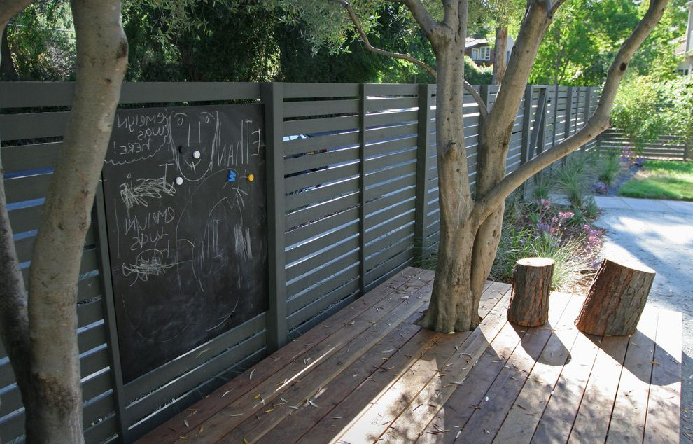 Mix It Up How to Paint a Fence for Contemporary Landscape Outdoor Photos Landscape Architects and Designers