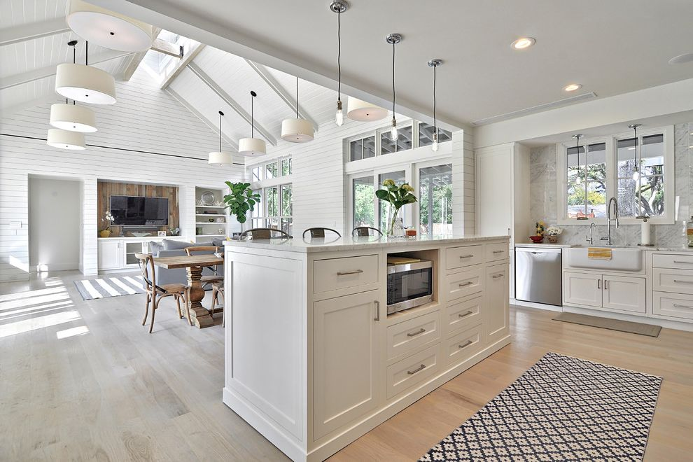 Modern Farmhouse How to Paint Over Wood Paneling for Farmhouse Kitchen Kitchen Photos Tile and Countertop Contractors