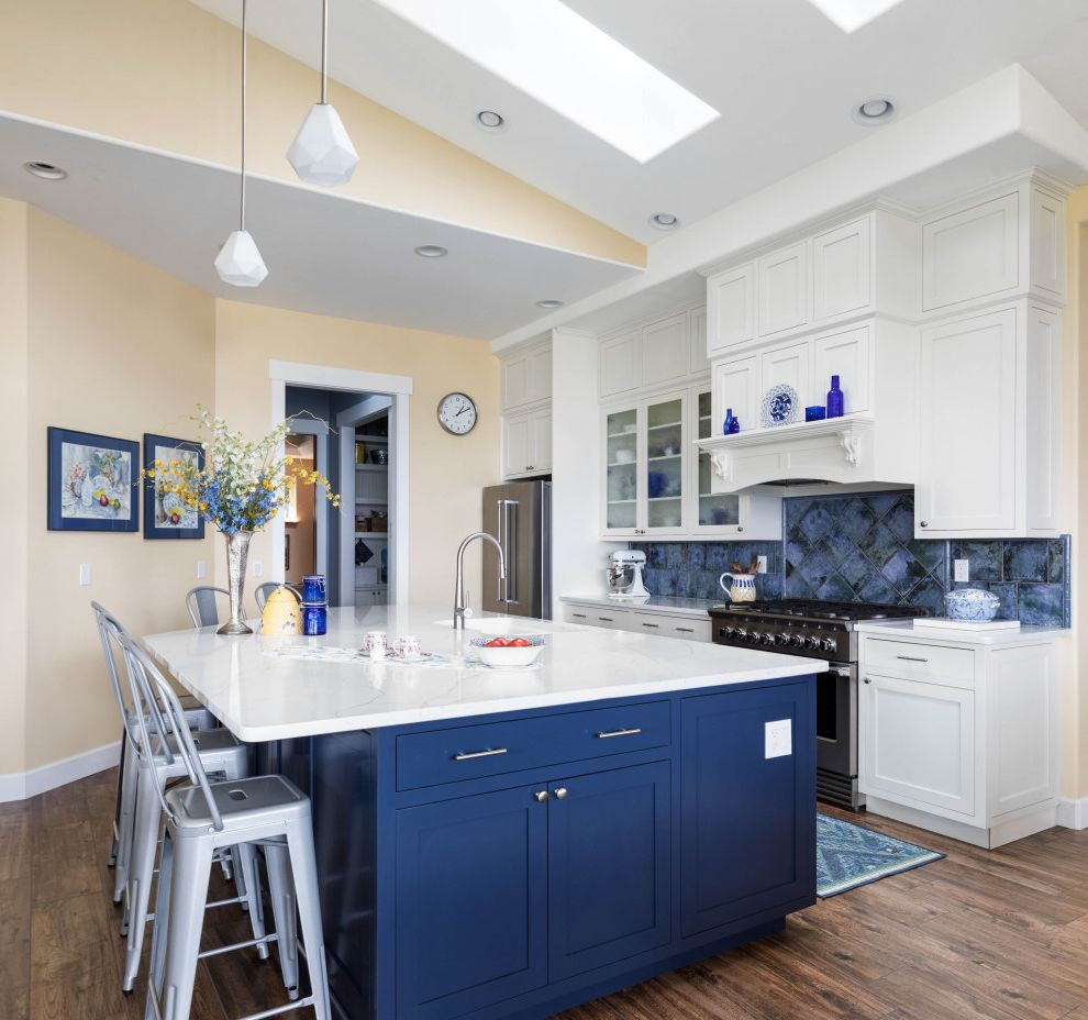 My Blue Heaven What is a Galley Kitchen for Transitional Kitchen Kitchen Photos Gray Kitchens