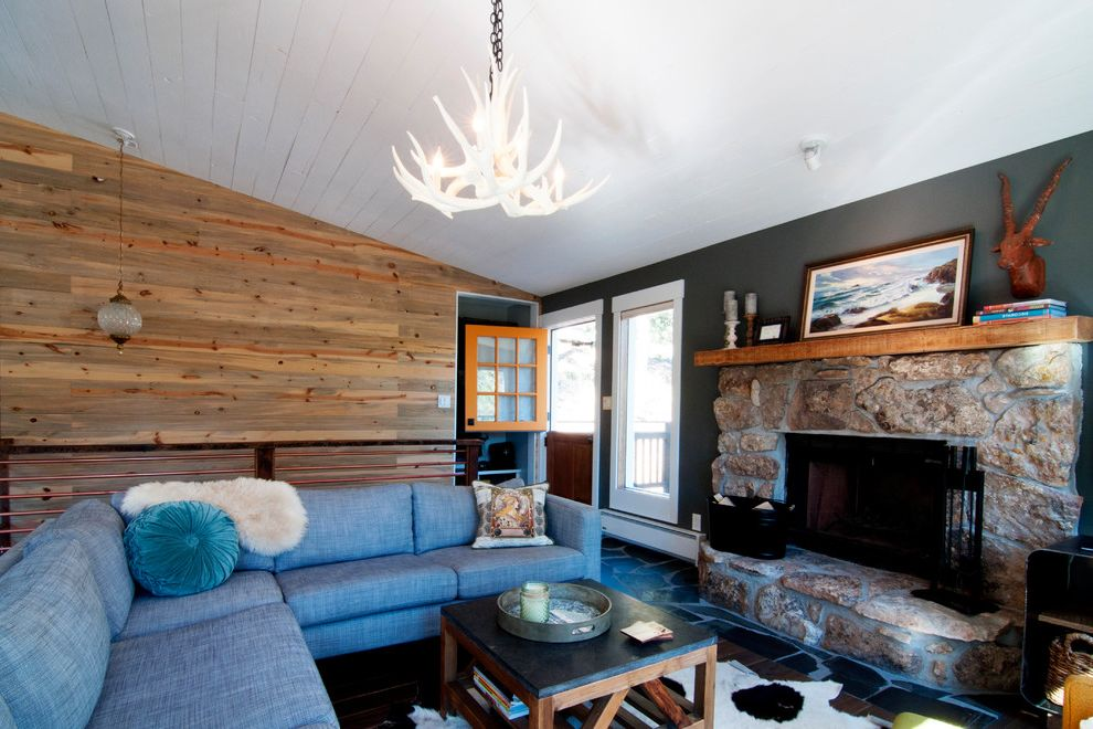 My Houzz: Colorado Fixer Upper is Reclaimed and Renovated Fixer Upper Living Rooms for Farmhouse Living Room Living Photos White Living Rooms