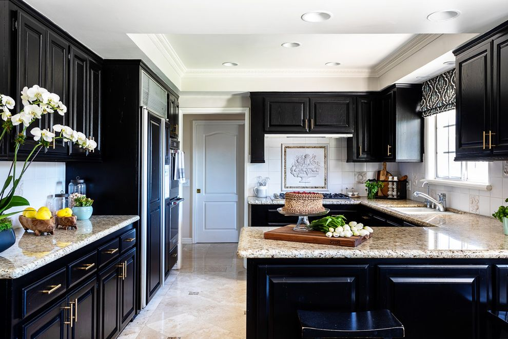 Northridge Facelift How to Repaint Cabinets for Traditional Kitchen Kitchen Photos Plumbers