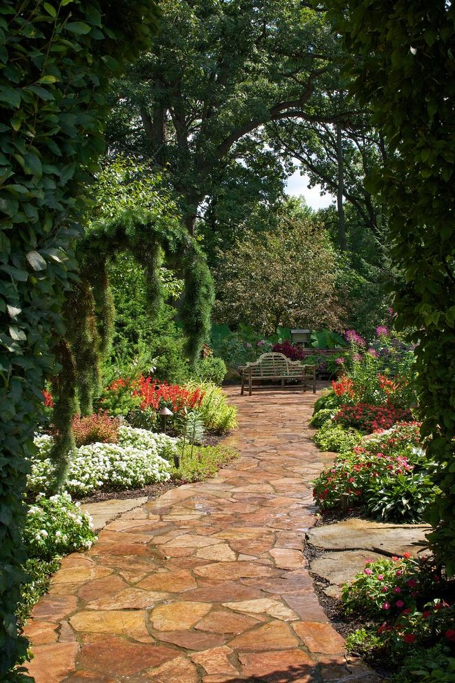 Northwest Indiana Marshall Residence How to Lay Pavers for Contemporary Landscape Outdoor Photos Garden Paths
