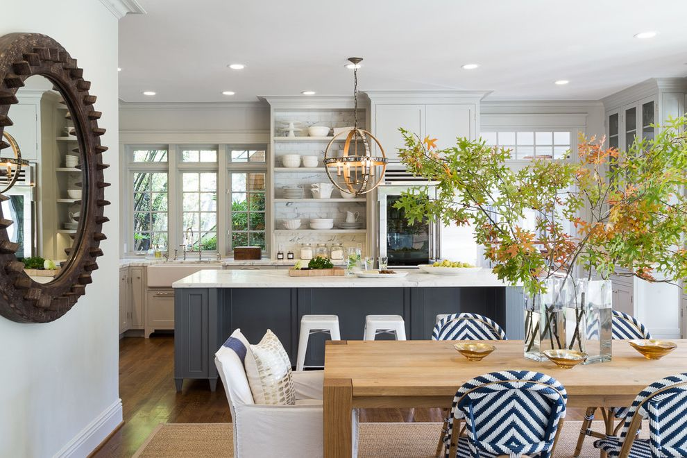 Open Plan Traditional  Modern Living for Today's Family How to Get Rid of Clutter for Beach Style Dining Room Dining Photos Home Stagers