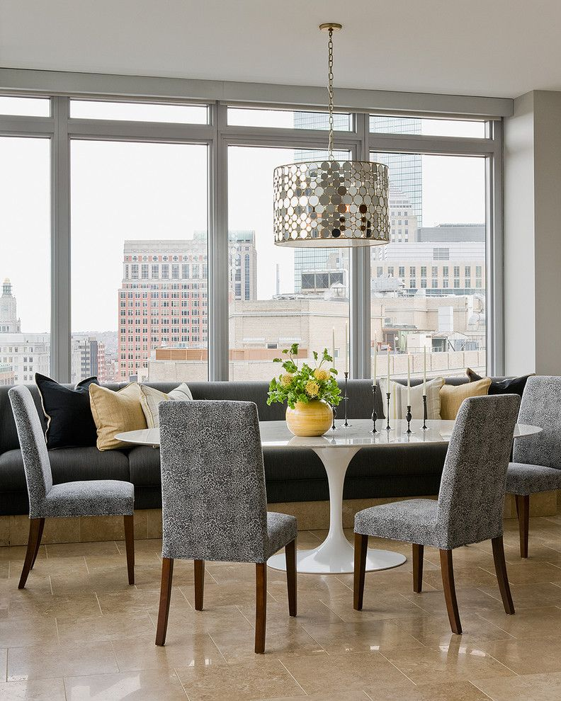 Penthouse Boston Living Room Dining Room Combo for Contemporary Dining Room Dining Photos Home Stagers