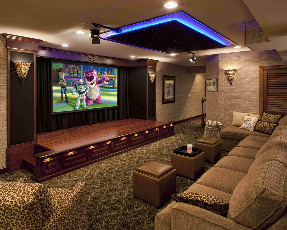Performance Theater Movie Theater in House for Traditional Home Theater Living Photos Carpenters