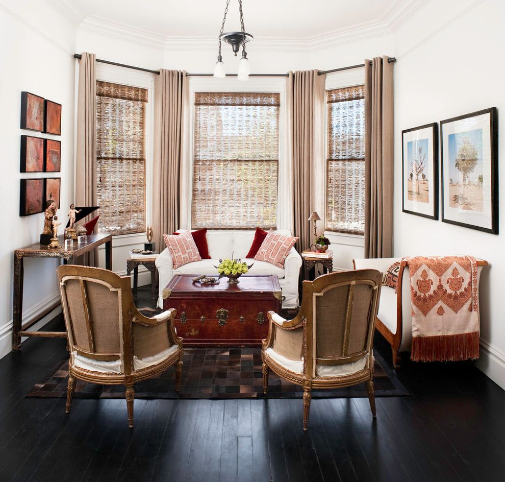 Potrero Hill How to Stain a Table for Eclectic Living Room Living Photos Eclectic Living Rooms