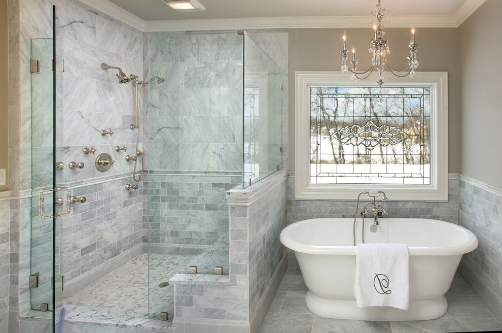 Powell Ohio Master Bath How Much Does It Cost to Finish a Basement for Traditional Bathroom Bath Photos Custom Mirror and Shower Door Companies