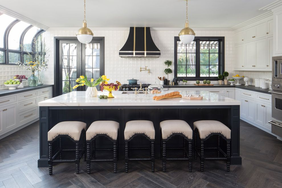 Property Brothers at Home: Drew's Honeymoon House Property Brothers Buying and Selling for Transitional Kitchen Kitchen Photos Marble Kitchen Backsplash Ideas