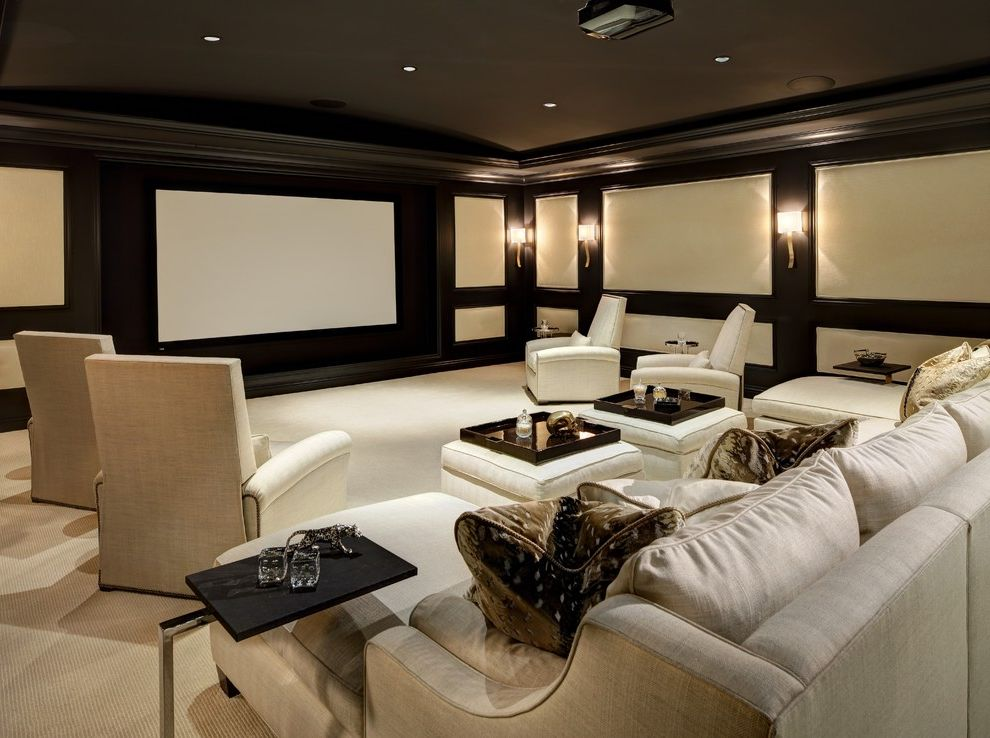 San Ysidro Beverly Hills Black Mold in Home for Traditional Home Theater Living Photos Traditional Home Theaters
