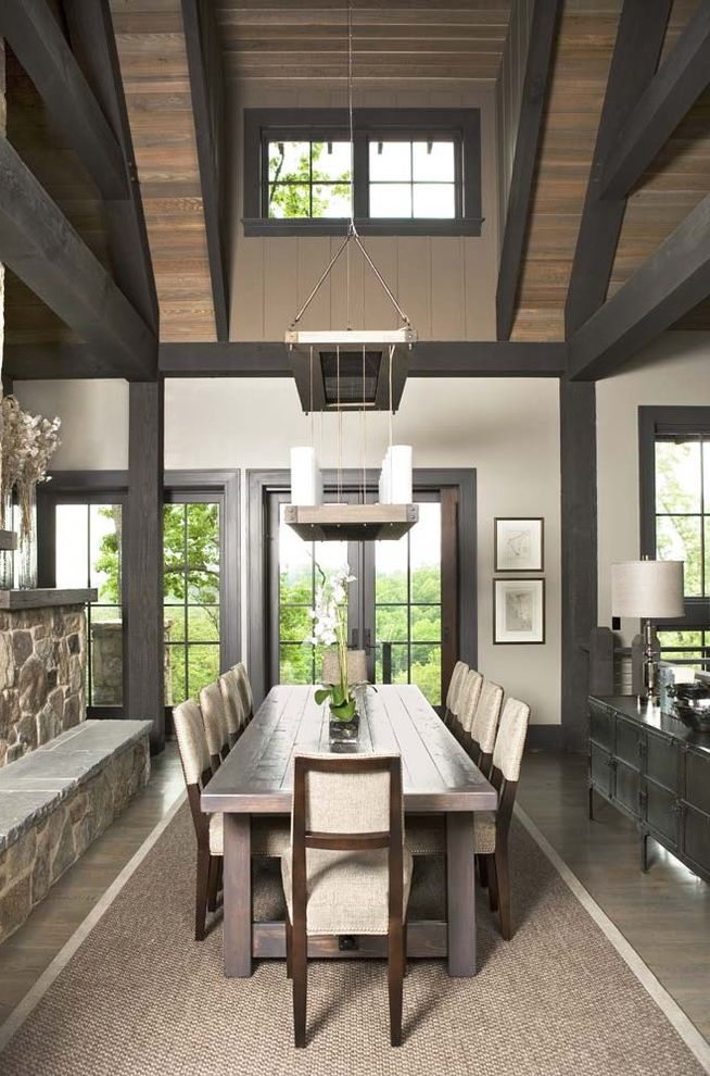 The Cliffs at Mountain Park: Private Residence How to Clean Wood Table for Rustic Dining Room Dining Photos Rustic Dining Rooms
