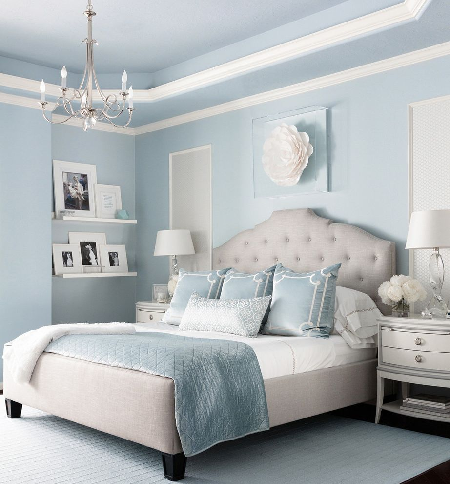 The Davis Home   Master Bedroom How to Paint Over Paneling for Transitional Bedroom Bedroom Photos Sage Green Bedroom Ideas and Photos