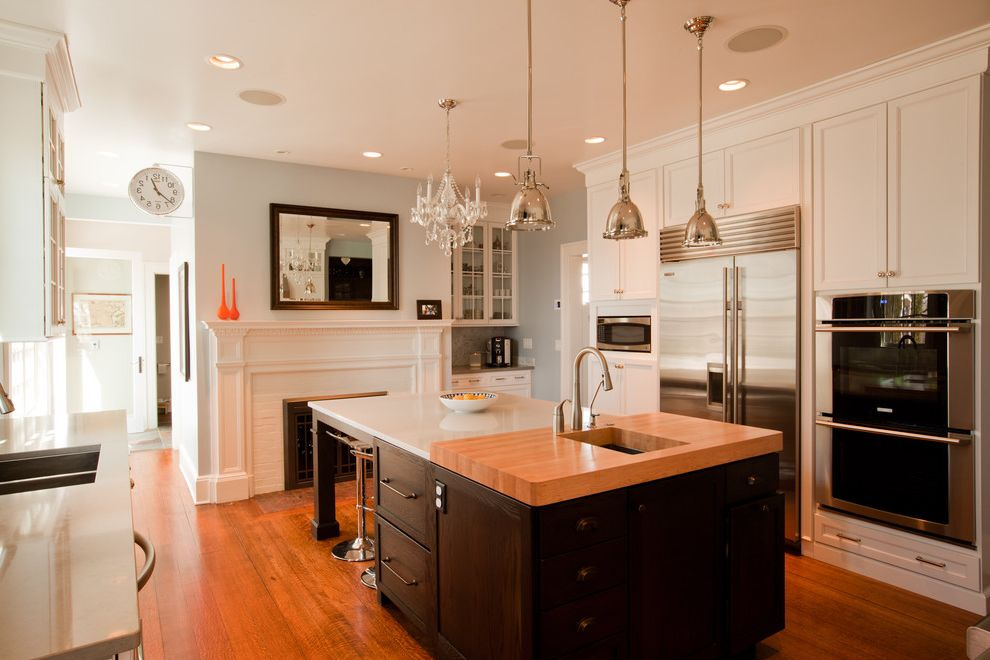 Transitional Glam Kitchen is Quartz Better Than Granite for Traditional Kitchen Kitchen Photos Stone Cleaners
