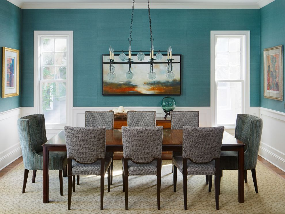 Transitional Not Trendy How to Recover a Chair for Transitional Dining Room Dining Photos Turquoise Dining Rooms