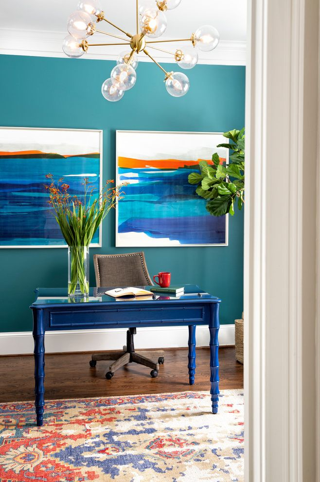 Updated and Polished Family Home Fiddle Leaf Fig Care for Beach Style Home Office Home Office Photos Craft Storage Ideas