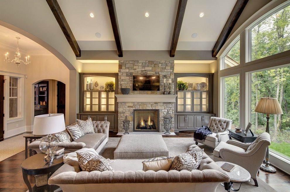 Wayzata Dream Home Great Room My Lottery Dream Home for Transitional Living Room Living Photos Rustic Small Living Room Ideas
