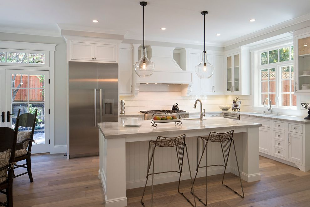 West Menlo Park Shingle How Do You Clean Stainless Steel for Transitional Kitchen Kitchen Photos Dark Cabinets with White Island Kitchen Ideas